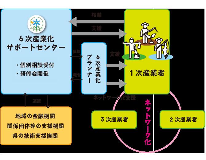 6次産業化支援体制説明図