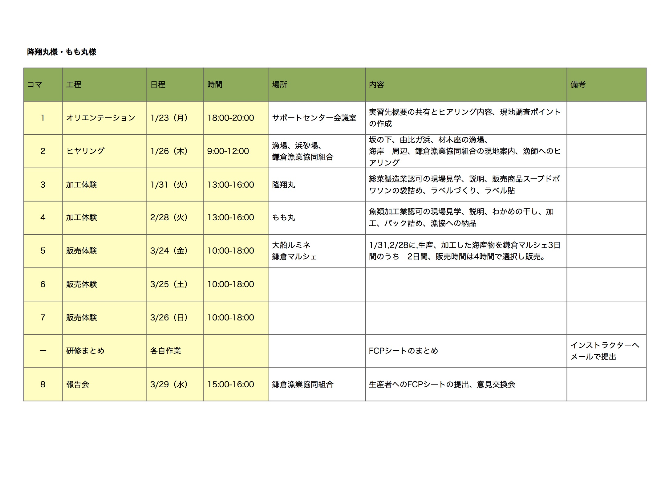 スケジュール鎌倉